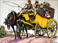 Black Beauty - Big Yellow Taxi art by Carlos Roume
