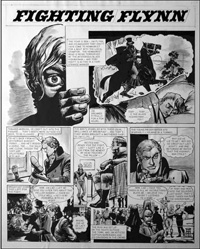 Fighting Flynn - In The Ring (TWO pages) art by Carlos Roume