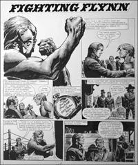 Fighting Flynn - Punch Bag art by Carlos Roume