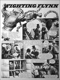 Fighting Flynn - Escape (TWO pages) art by Carlos Roume
