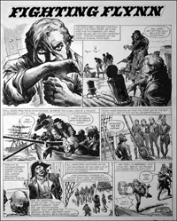 Fighting Flynn - Press Gang (TWO pages) art by Carlos Roume