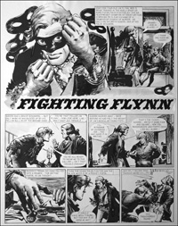 Fighting Flynn - Masked Ball (TWO pages) art by Carlos Roume