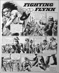 Fighting Flynn - Exposed (TWO pages) art by Carlos Roume