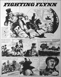 Fighting Flynn - Stand and Deliver (TWO pages) art by Carlos Roume
