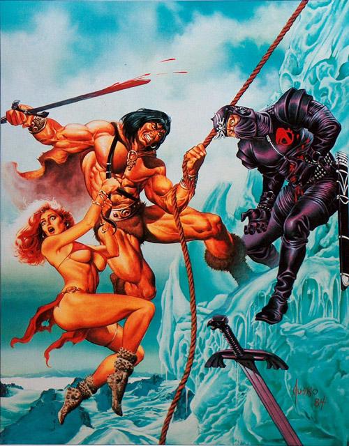 Conan Classics  9 Portfolio by John Buscema, Joe Jusko, Clyde Caldwell, Howard Chaykin Dan Adkins and Frank Brunner