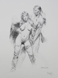 Held art by Paolo Serpieri