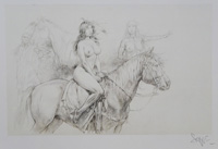 Indian on Horseback art by Paolo Serpieri
