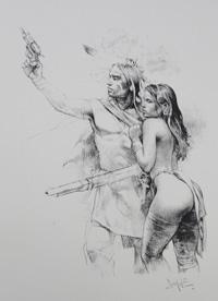 Firearms art by Paolo Serpieri