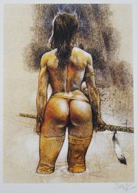 Knee Deep art by Paolo Serpieri