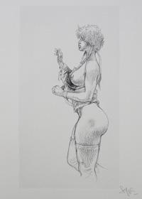 Serpieri Sketchbook Page 2 art by Paolo Serpieri