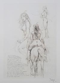 Serpieri Sketchbook Page 3 art by Paolo Serpieri