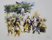 Natives and Invaders art by Paolo Serpieri