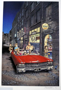 Car art by Gilbert Shelton