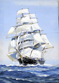 When Sail Beat Steam:  The Cutty Sark art by John S Smith