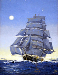 Almost Home  Taeping off the English Coast art by John S Smith