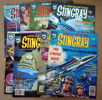 Stingray comic numbers 1, 2, 3, 7, 8, 9, vol2 #1, #2  (8 issues)