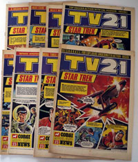 Collection of 8 TV21 comics New Series (1970)