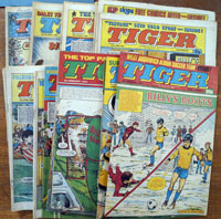 Collection of 38 Tiger comics (1984)