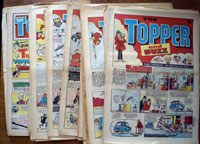 Collection of 25 Large Format Topper Comics (1976)