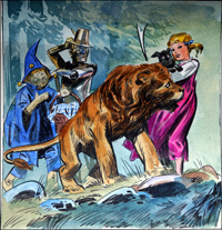 Wizard of Oz - A Talking Lion art by Giorgio Trevisan