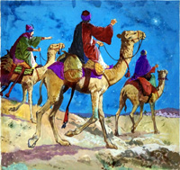 Three Wise Men art by Clive Uptton