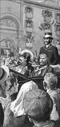Garibaldi and Victor Emmanuel art by Clive Uptton