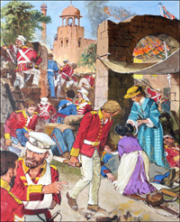 Indian Mutiny - Cawnpore art by Clive Uptton