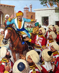 Indian Mutiny - Massacre art by Clive Uptton