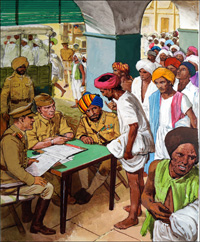 India Enters World War Two art by Clive Uptton