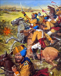 War in The Punjab art by Clive Uptton