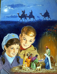 Christmas Nativity Treasure Cover art art by Clive Uptton