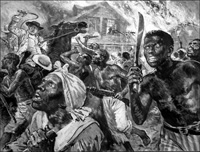 Slave Revolt in the Southern United States art by Clive Uptton
