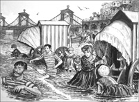Victorian Bathing at Brighton art by Clive Uptton