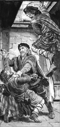 Friend or Foe? art by Clive Uptton