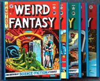 The Complete EC Library: Weird Fantasy (4 Volume Boxed Set) by Edited & written by Al Feldstein, William M. Gaines & others