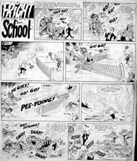 Fright School - Anyone for Tennis? art by Brian Walker