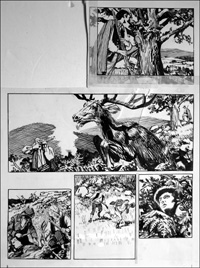 Rookwood - Deer and Hounds (TWO pages) art by Tony Weare