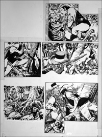 Rookwood - Fight In the Trees (TWO pages) art by Tony Weare