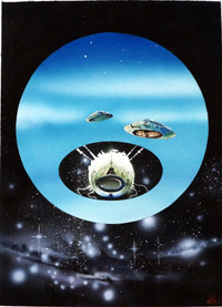 Flying Saucers art by WEB