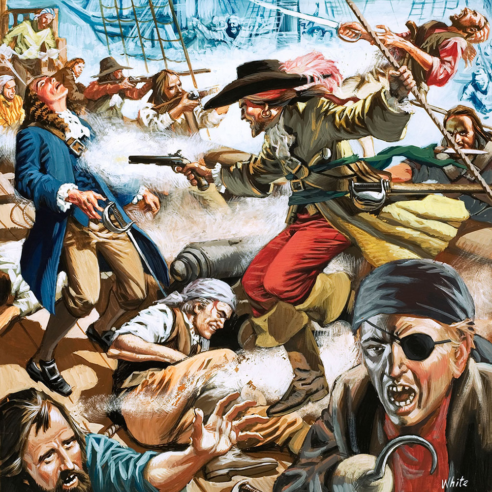 Pirates Boarding Party! by Michael White at the Illustration Art ...