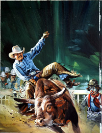 Rodeo art by Gerry Wood