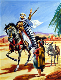Arab Warrior art by Gerry Wood