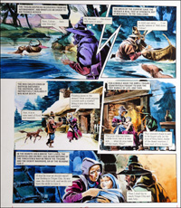 Trigan Empire: Mercy Mission (TWO pages) art by Gerry Wood