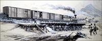 The Trans-Siberian Railway art by Gerry Wood