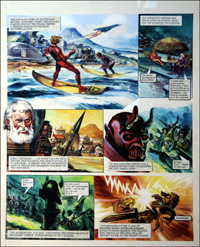 Trigan Empire: All Hail Zonn (TWO pages) by Gerry Wood