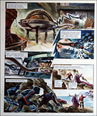 Trigan Empire: Bank Robbery (TWO pages) by Gerry Wood