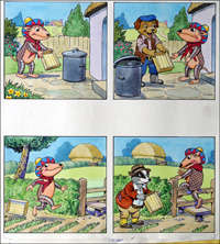 Alfie & Mango - Box Trouble (TWO pages) art by Peter Woolcock