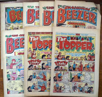 Collection of 7 Christmas issues of Topper (1980 & 1982), Beezer (1981, 1982, 1983, 1984, 1988)