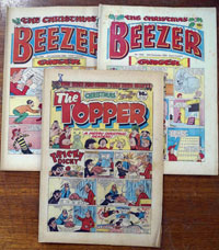 Collection of 3 Christmas issues of Topper (1982) & Beezer (1982 & 1983)