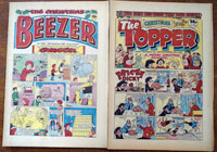 Collection of 2 Christmas issues of Topper (1982) & Beezer (1983)